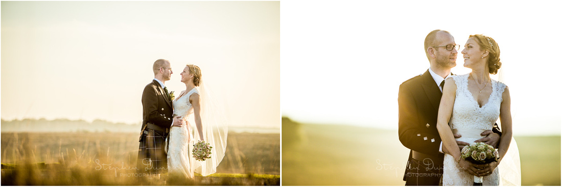 Landscape portraits of bride and groom together