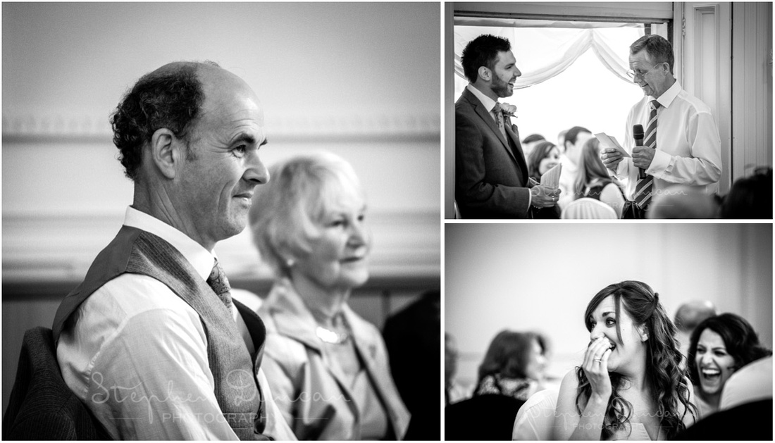 The father of the bride gives the first of the speeches