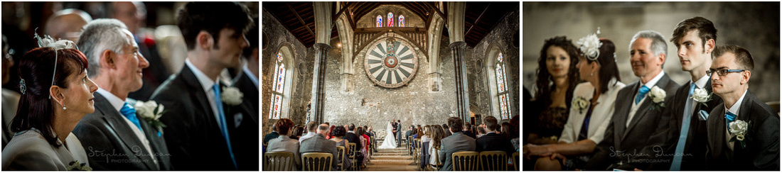Natural light photography in Winchester Great Hall during wedding