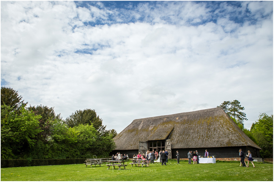 The thatched barn in the grounds of the hotel is a popular wedding and wedding reception venue
