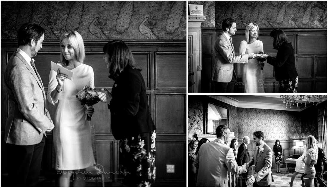 The certificate is traditionally handed to the bride
