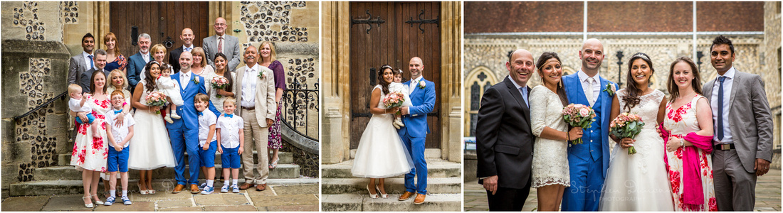 A small selection of formal and group photos taken after the wedding ceremony