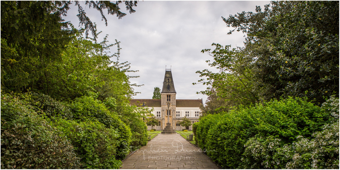 View of the central point of the chapel building from the grounds