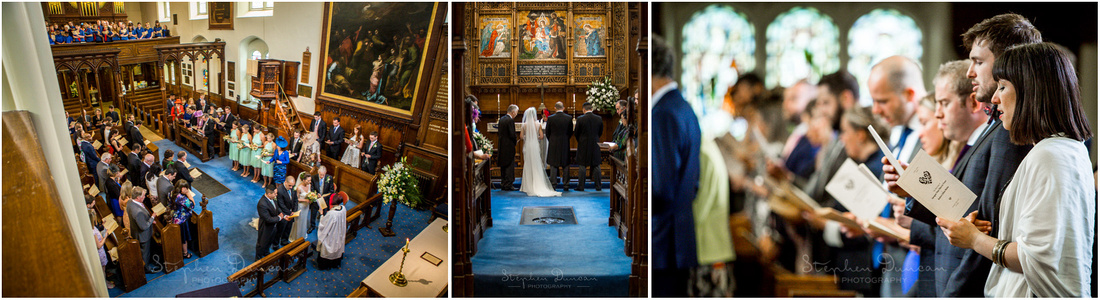 The marriage begins with a welcome from the vicar and a hymn