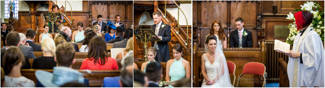 Family members and guests give readings as part of the wedding ceremony