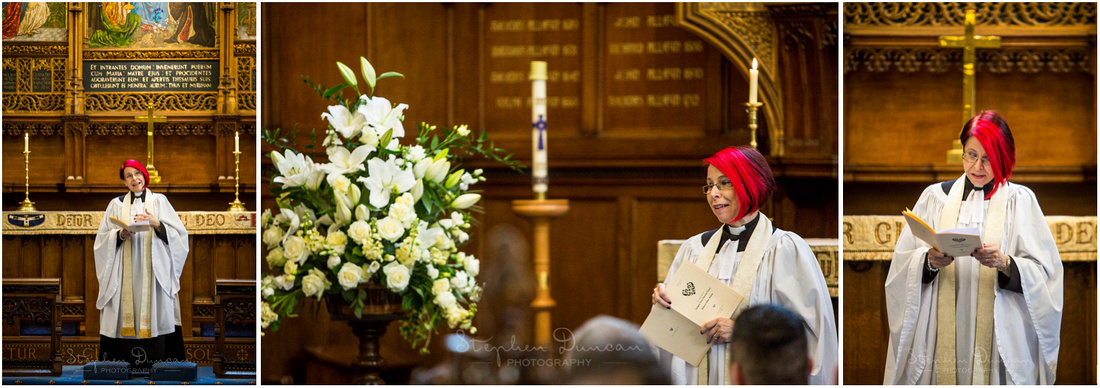 A friend of the family was ordained and therefore able to perform the wedding ceremony, which meant for a very personal and touching address