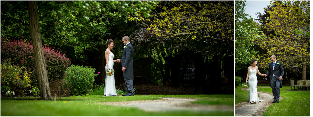 Time-out portraits as bride and groom enjoy some time alone