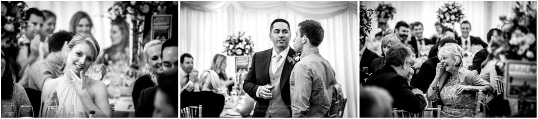Family and friend reactions during wedding reception