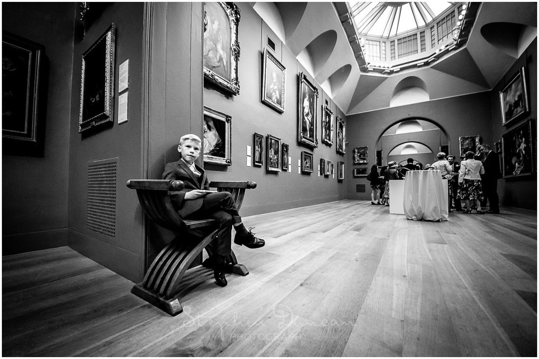 A bit of space and time out for one of the younger members of the wedding party