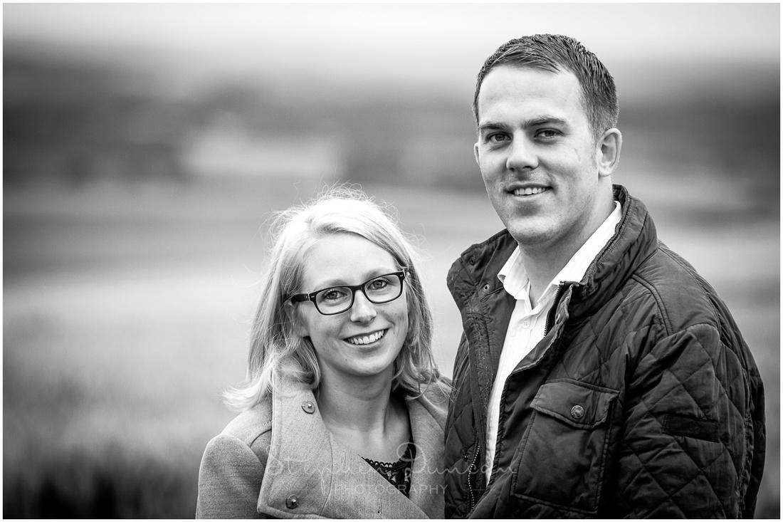 Bride and groom headshot portraits