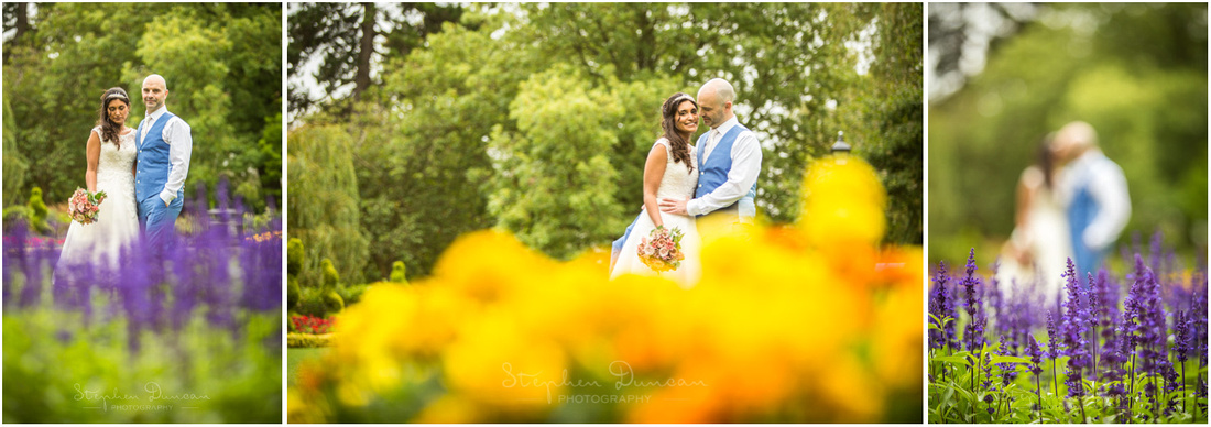 Soft focus photographs in Abbey gardens, next to Winchester Guildhall