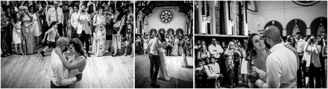 The bride and groom take the lead before guests join them on the dancefloor