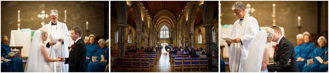 Bride and groom make their marriage vows