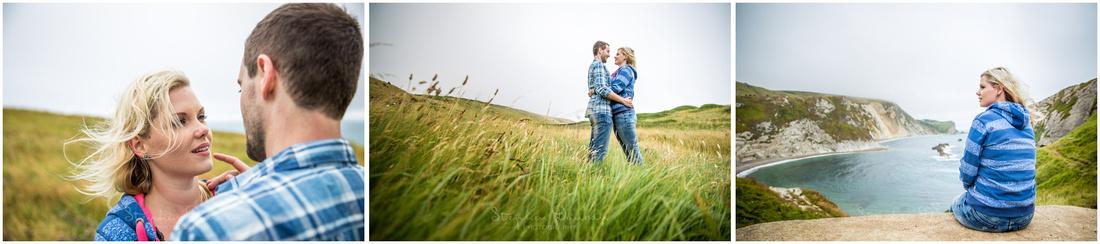 Engagement shoot on Dorset coast