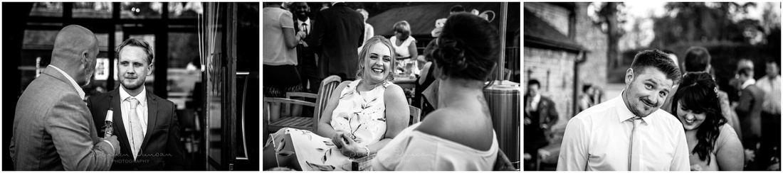 Candid photographs of guests relaxing before the night's partying begins