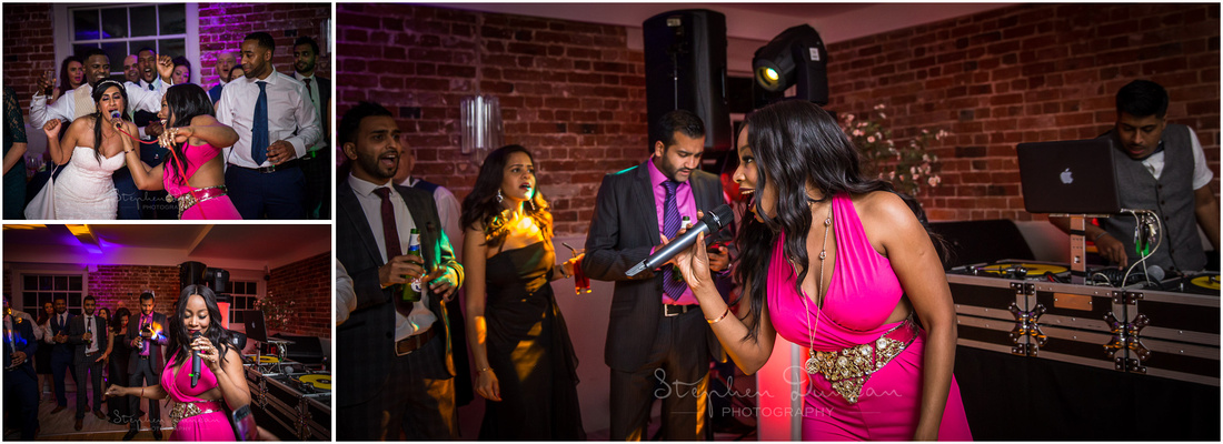 Singing at wedding reception by Kele Le Roc