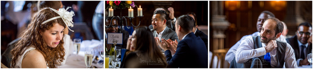Natural light portraits of wedding guests