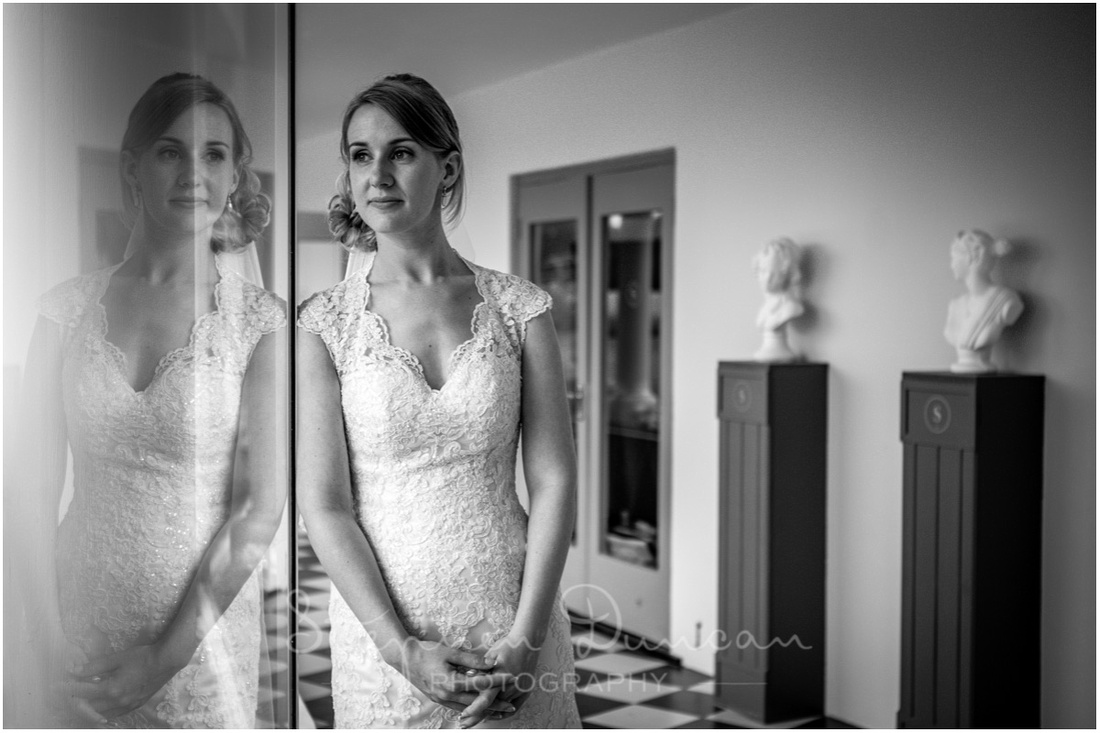 Southdowns Wedding Photography The bride alone