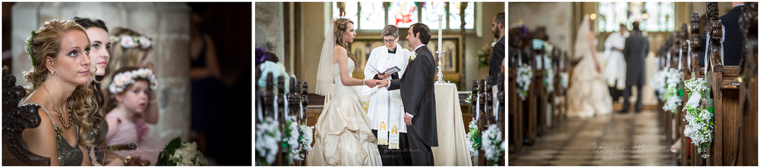 Bride and groom turn to face each other to make their vows