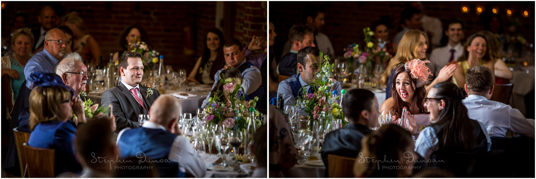 Guests look on during the speeches