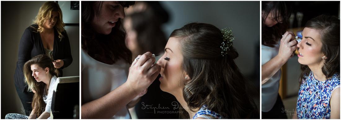 Colour photos using natural light during bridal prep