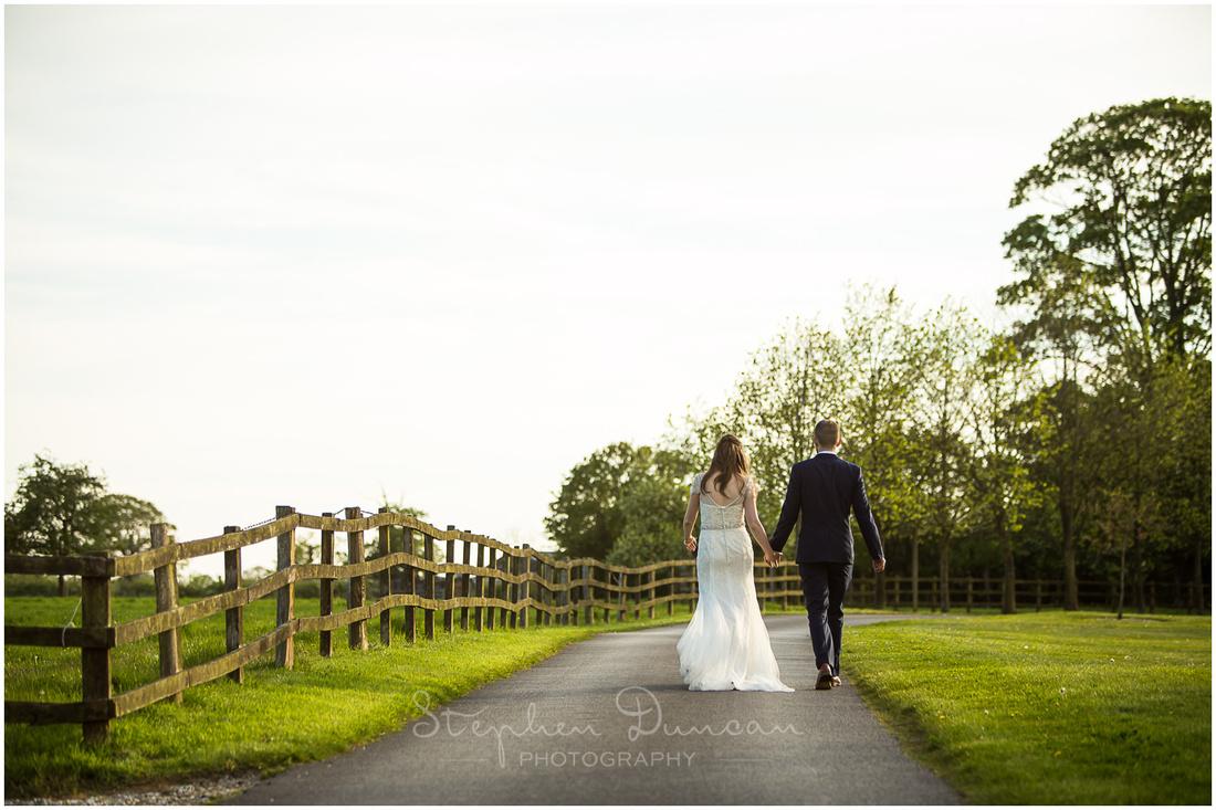 Couple walk into the light