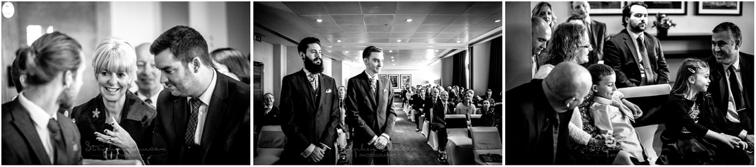 Candid photos of guests before the start of the wedding ceremony