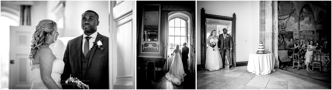 The bride and groom are formally announced into the dining room to start the wedding breakfast