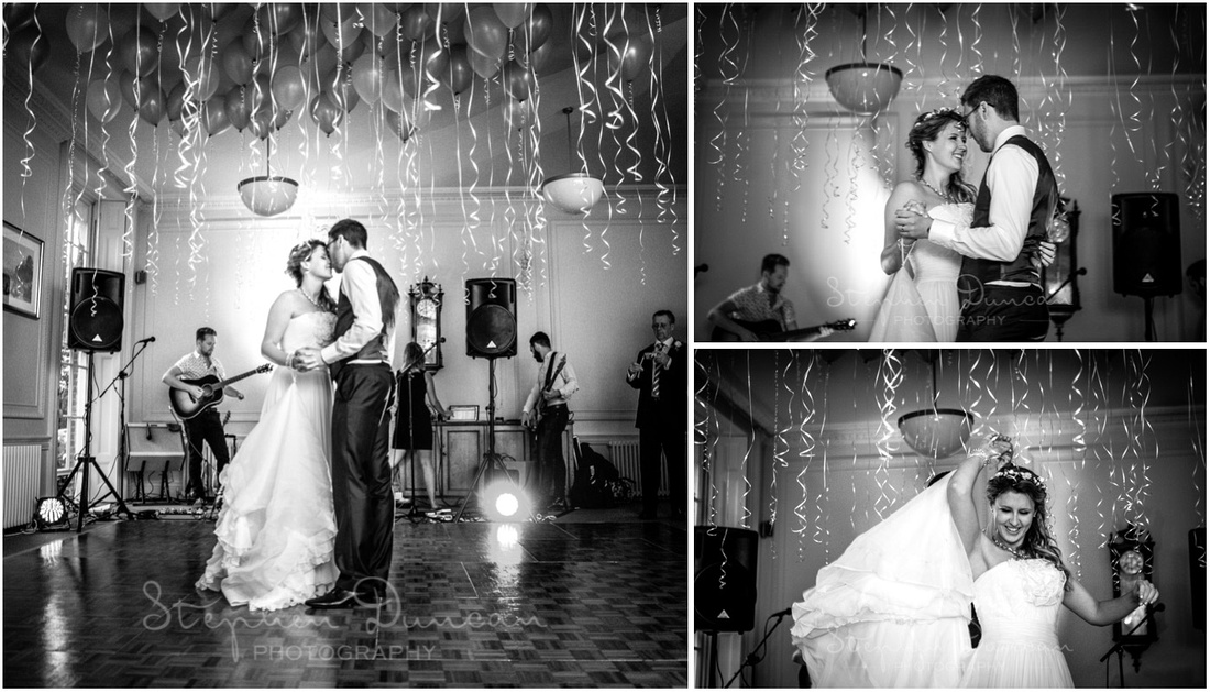 The bride and groom take to the dancefloor