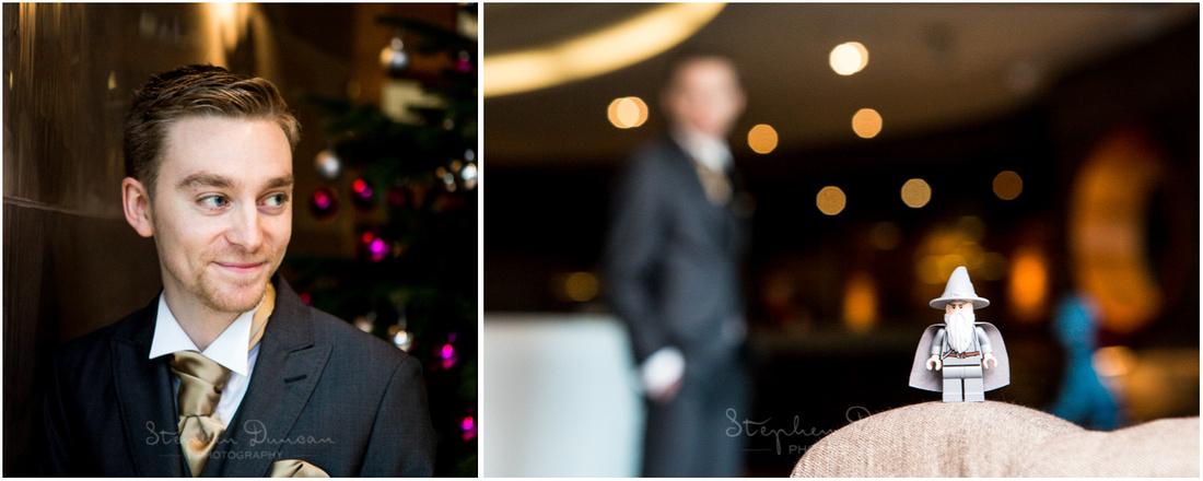 Portrait photo of groom