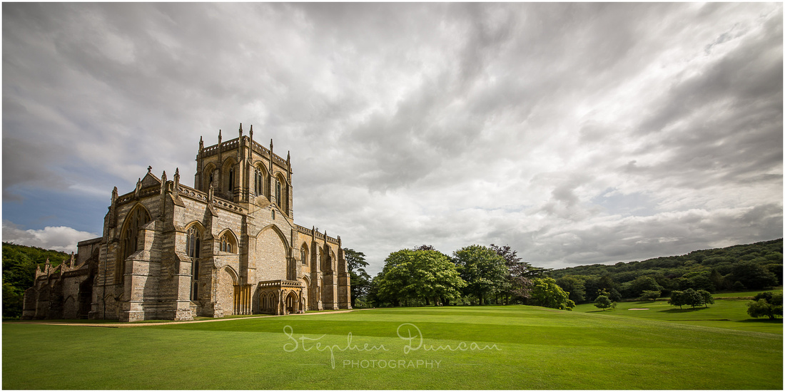 The beautiful old church sits in the grounds of Milton Abbey school, surrounded by parkland landscaped by Capability Brown.