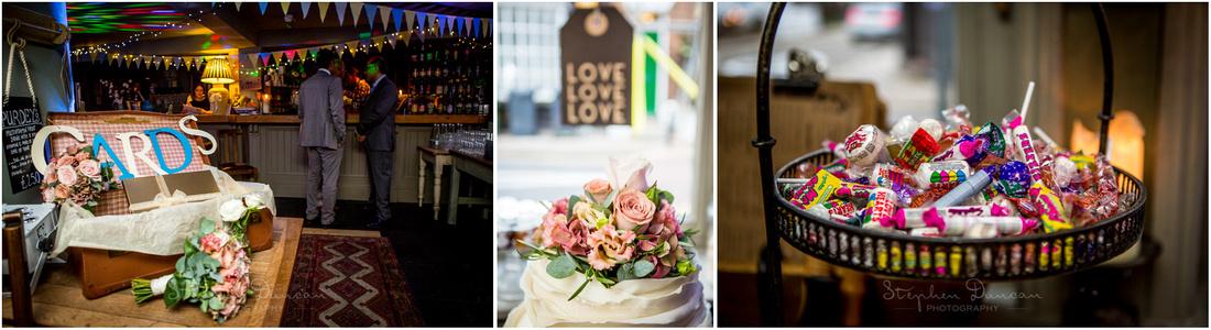 Detail photographs at Corner House Winchester wedding reception