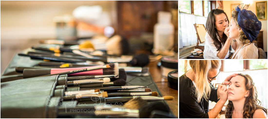 A huge array of make-up brushes - I wouldn't know where to begin!