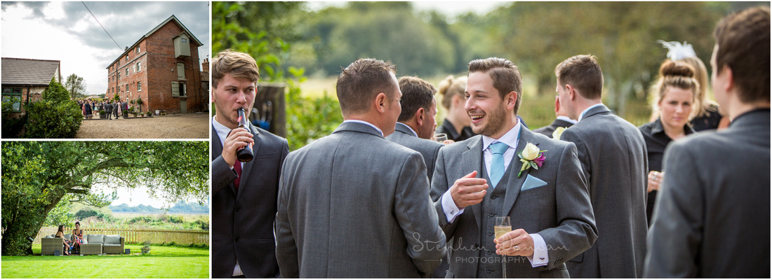 Guests enjoying the grounds of the venue
