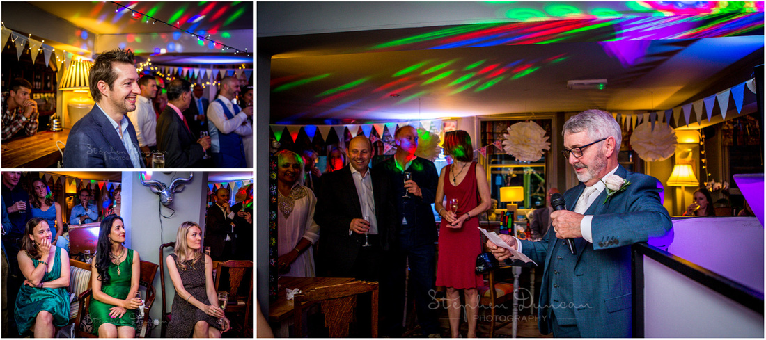 Father of the groom gives the opening speech at Corner House Winchester wedding reception