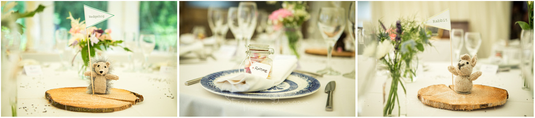 Wedding in the Woods Gorgeous hand-knitted table names representing different forest creatures - it's the little touches which make all the difference when it comes to personalising your wedding!