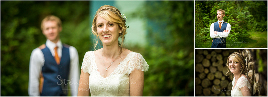 Wedding in the Woods Photos of the couple in the woodland surroundings