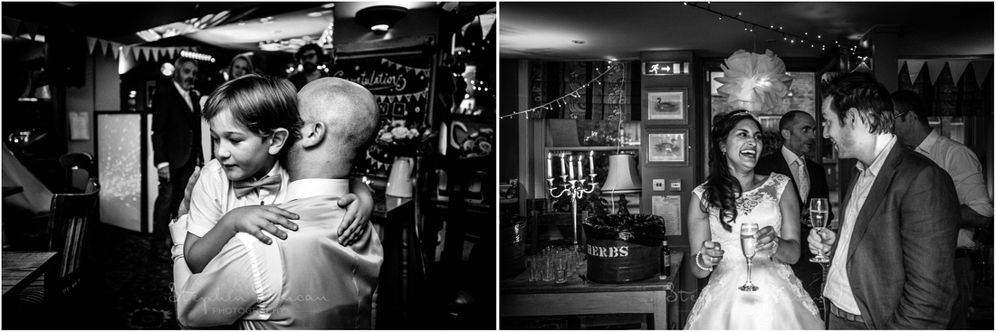 Black and white documentary photography at Corner House wedding reception