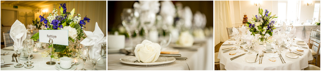 Tables and flowers arranged in the dining room