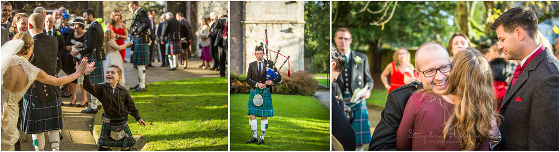 Winter sunshine, laughter, smiles and bagpipes