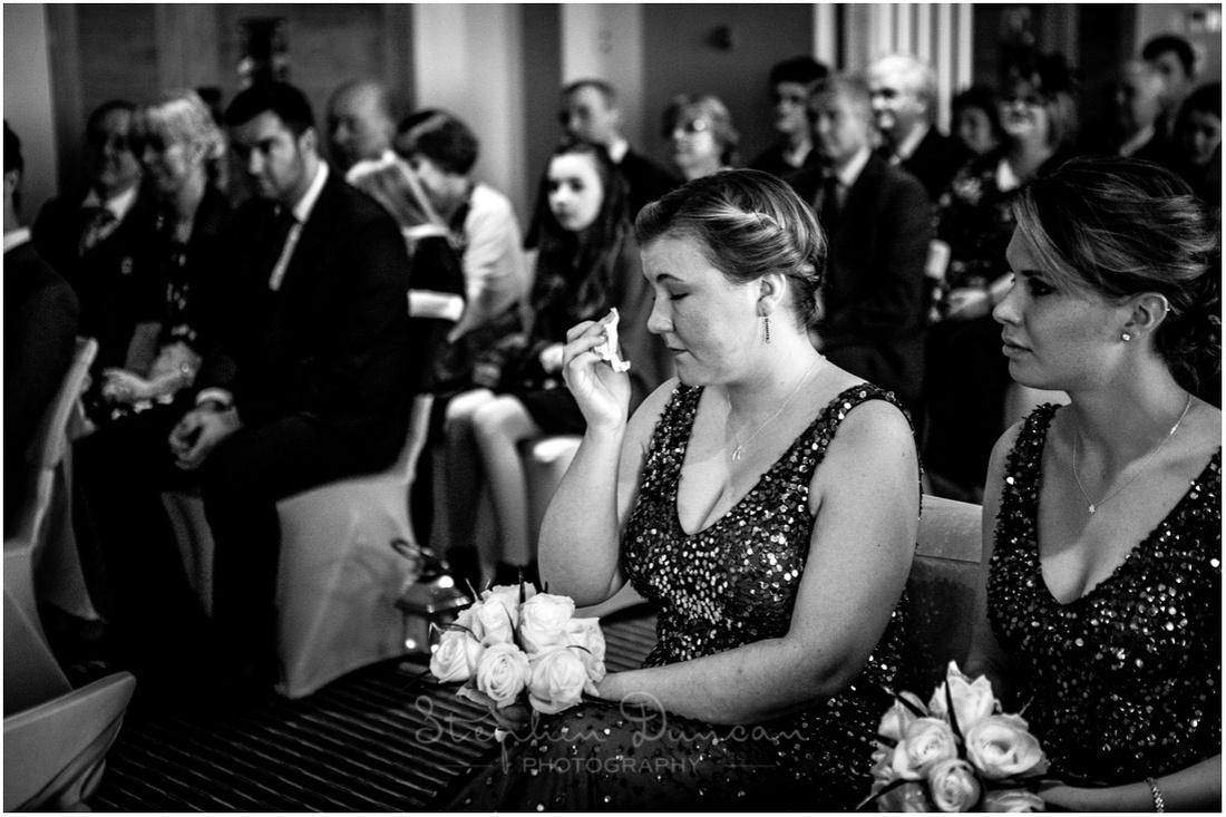 Bridesmaids during the wedding