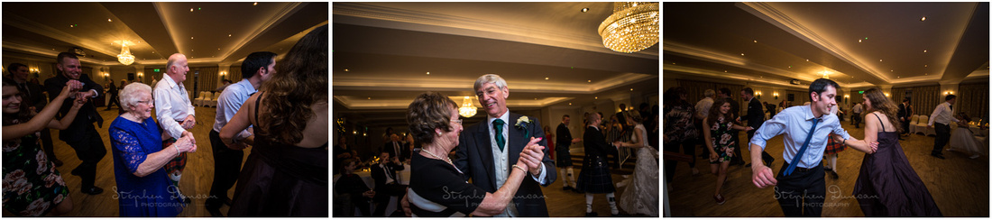 The start of the ceilidh at the evening party