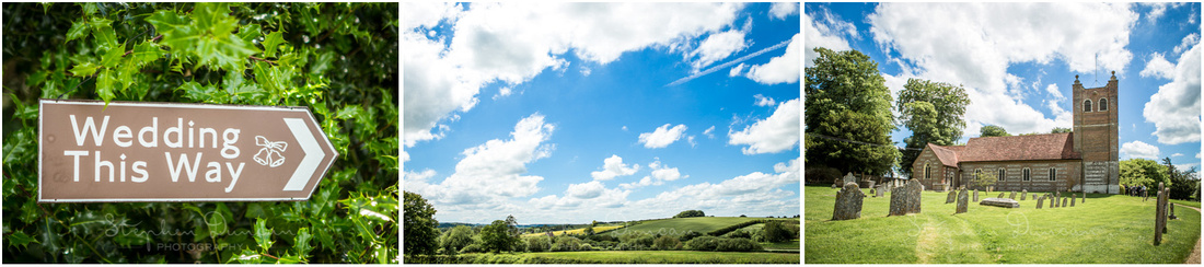 Blue skies and sunshine over the beautiful Hampshire countryside