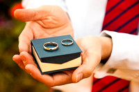 Winchester Wedding Photographer - Groom with rings