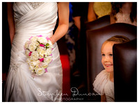 Bride & Flowergirl at wedding at Audleys Wood Hotel
