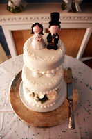 Wedding Cake with toppers