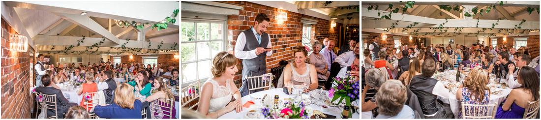 Speeches during Sopley Mill wedding speeches