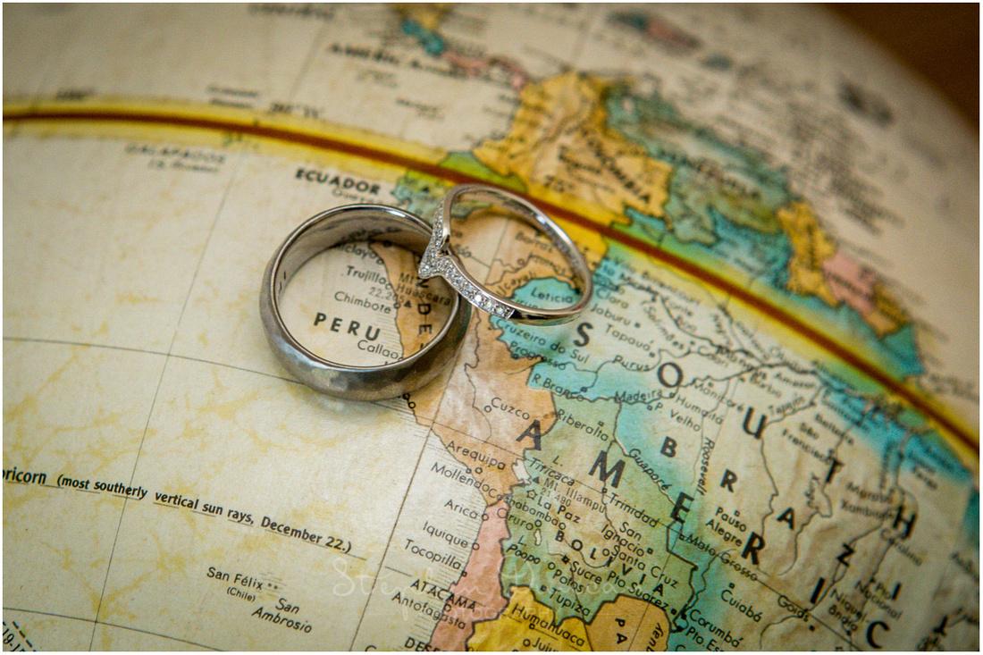 Photo of bride and groom's wedding rings