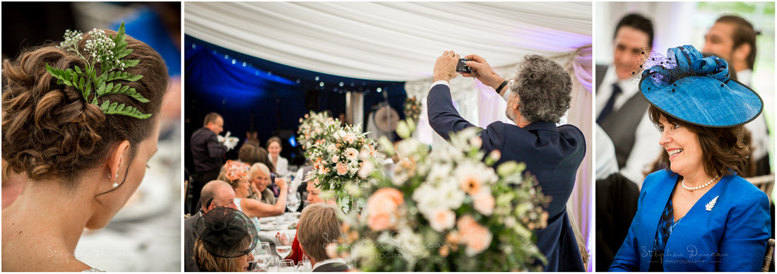 Natural photography during the reception in the marquee at Dulwich Picture Gallery