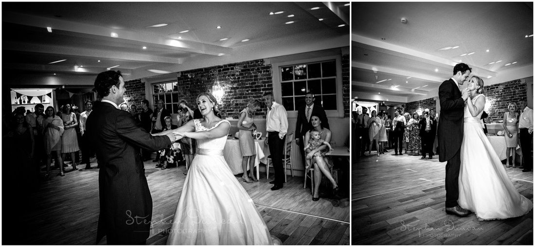 The couple take to the dancefloor for the first time